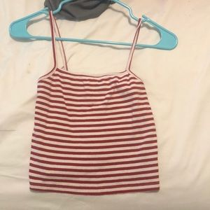 red and white striped brandy melville shirt